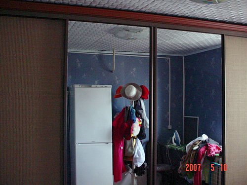шкаф-купе 4х дверный, зеркало, ратан